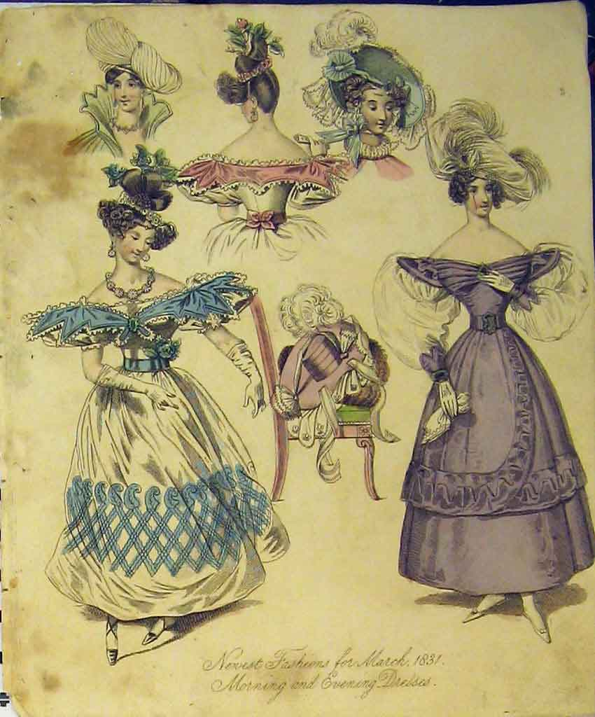 Print 1831 Womens Fashion Morning Evening Dresses Hat Colour 153B357 Old Original