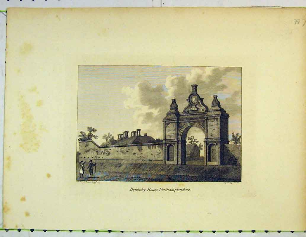 Print View Holdenby House Northamtonshire Archway People 413B362 Old Original