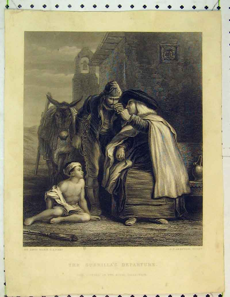 Print Guerilla'S Daughter Children Donkey Men 436B362 Old Original
