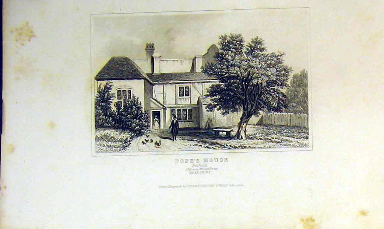 Print View Pope'S House Binfield Berkshire England Dugdales 238B364 Old Original