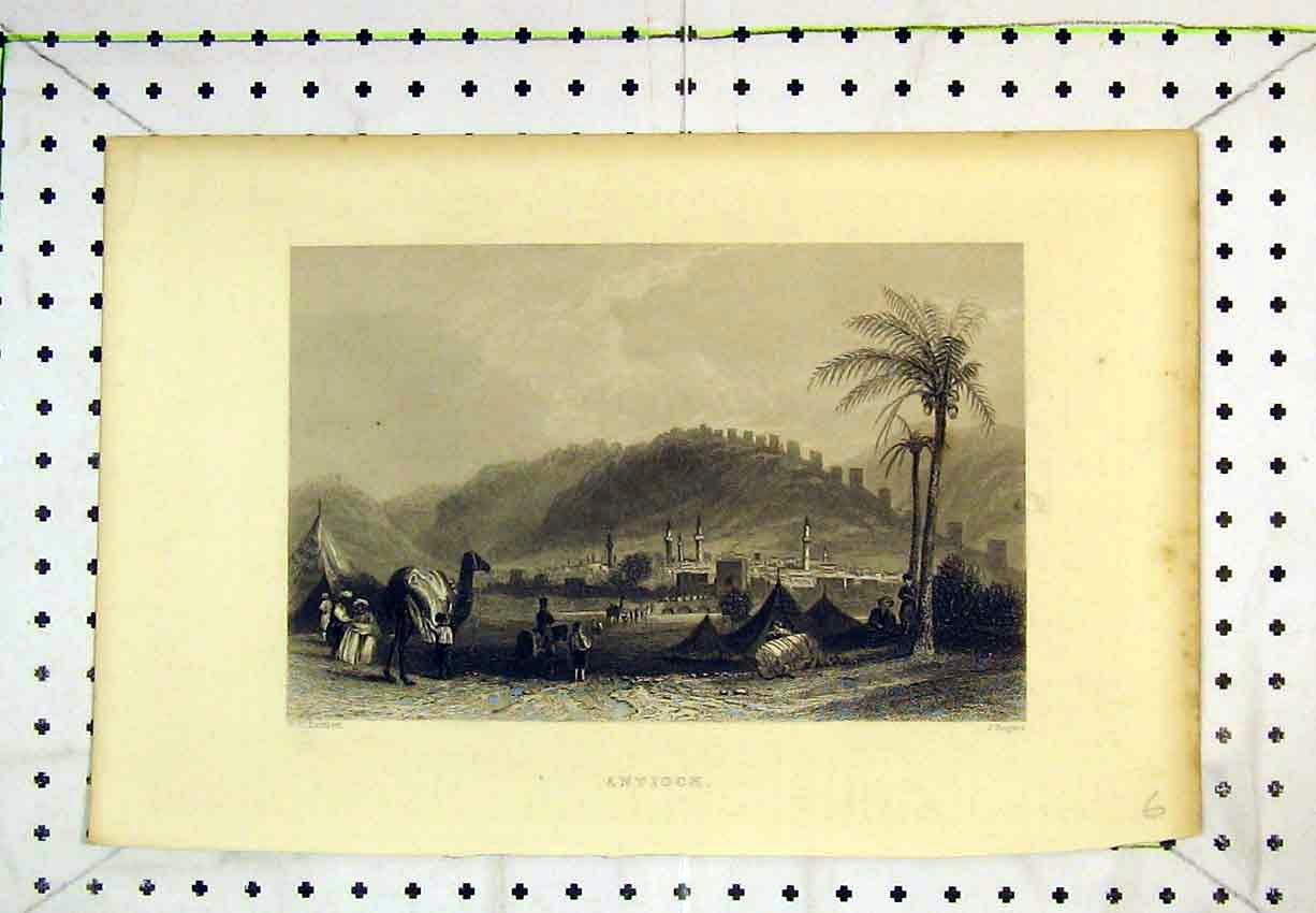 Print View Antioch Camel Mountains Men Rogers 274B365 Old Original