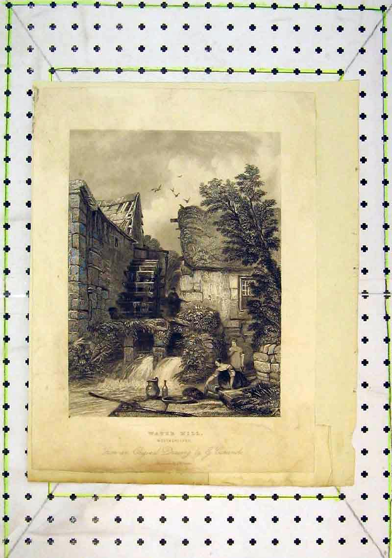 Print View Water Mill Westmoreland River Women 258B368 Old Original