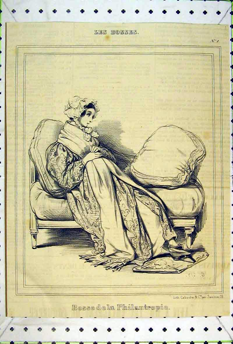 Print Women Chair Bossedela Philantropie Lady 116B369 Old Original