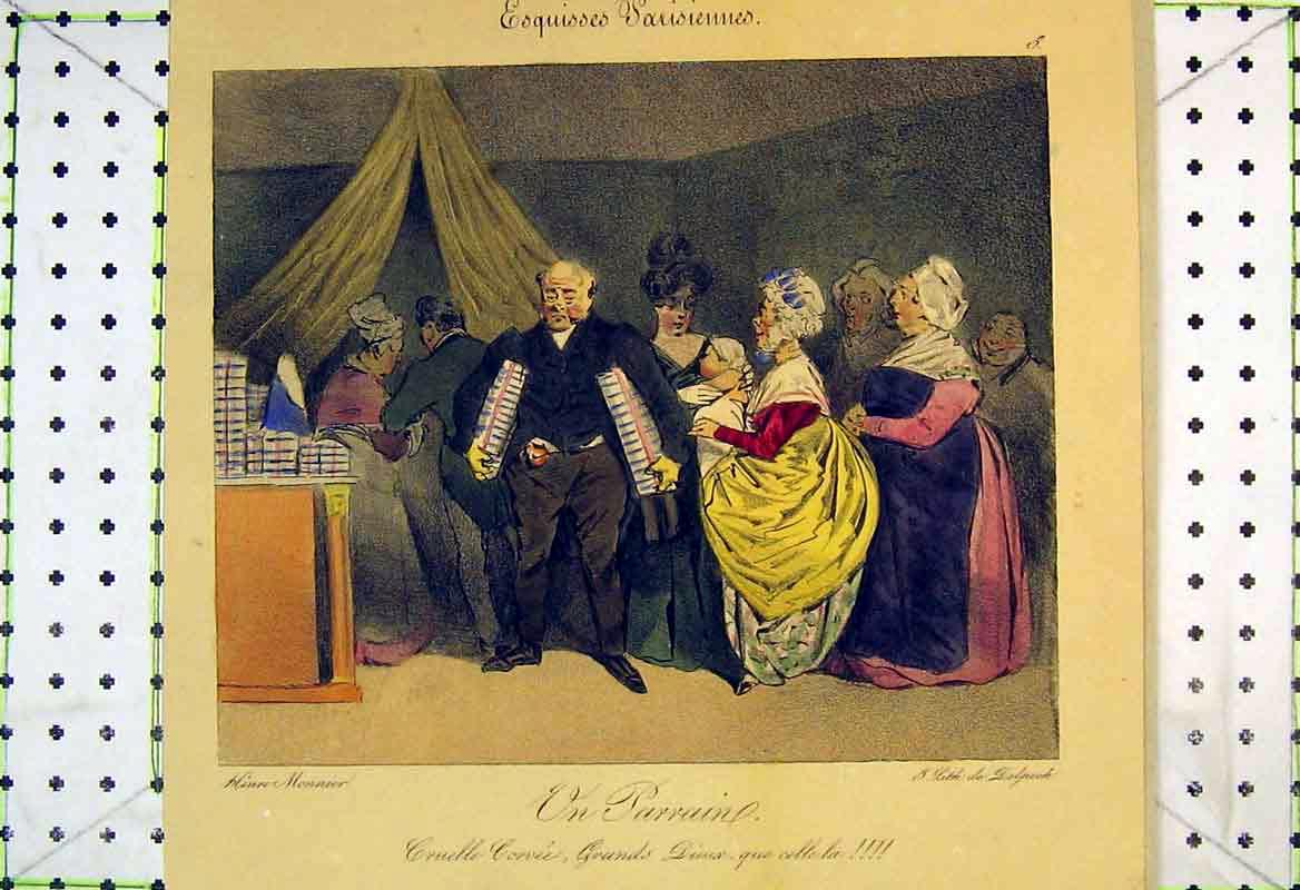 Print French Colour Man Women Celebration 220B370 Old Original