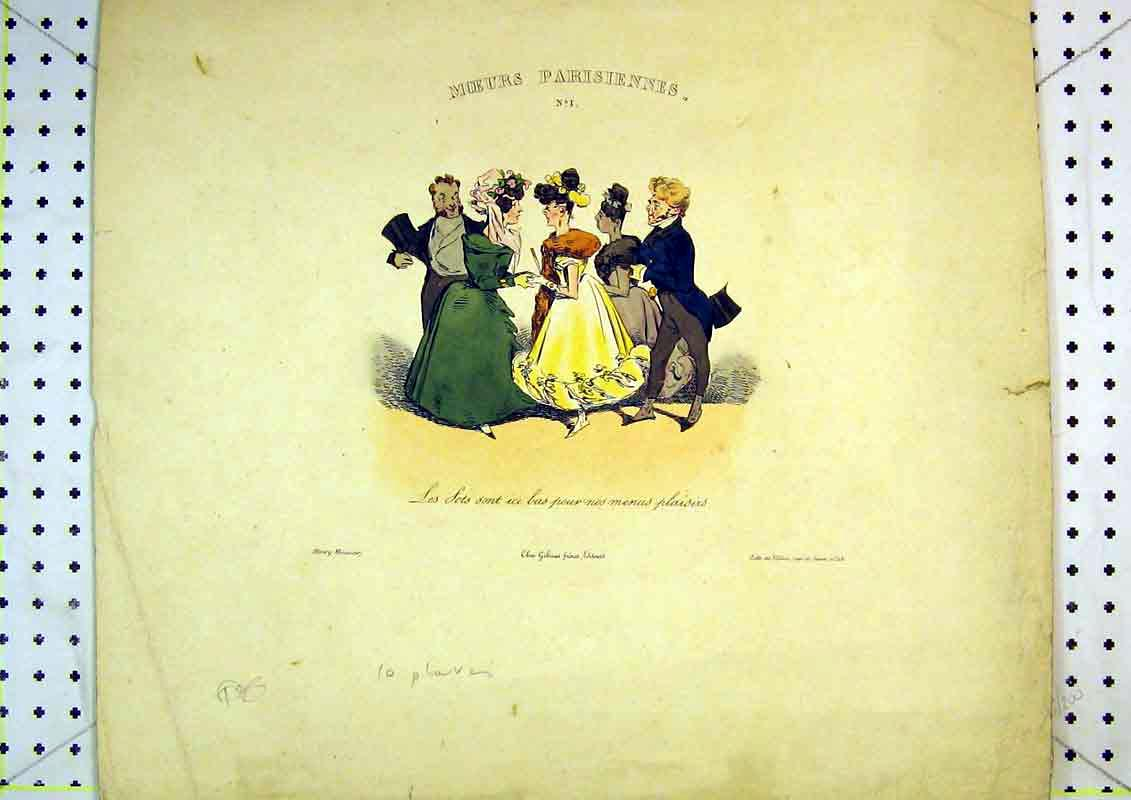 Print French Colour Comedy Men Women Dancing Romance 432B371 Old Original