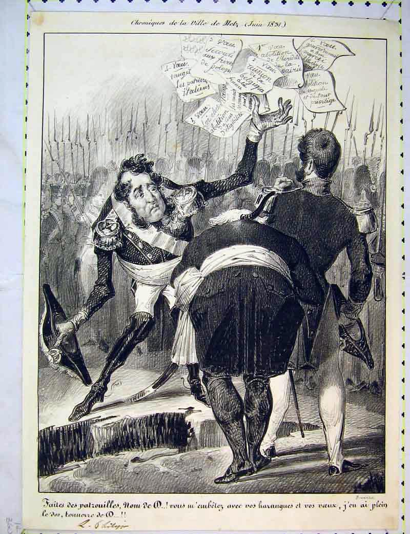 Print French Soldiers War Throwing Papers 213B372 Old Original