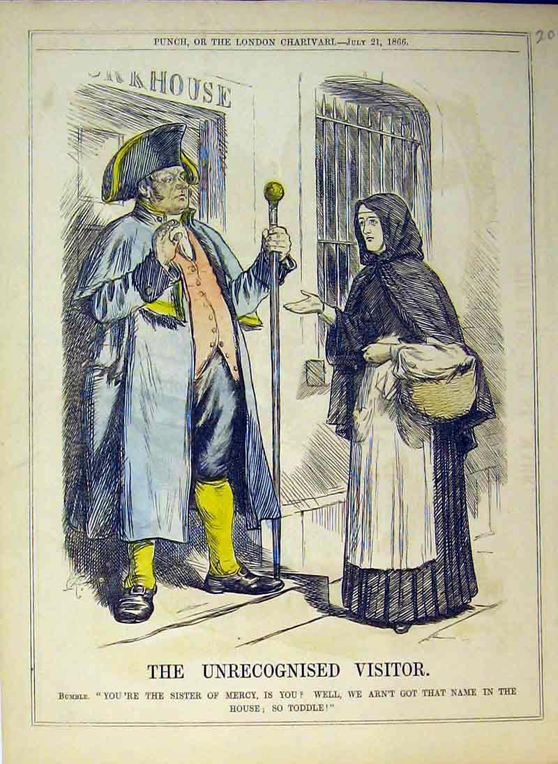 Print 1866 Man Guarding House Woman Basket Colour 206B375 Old Original