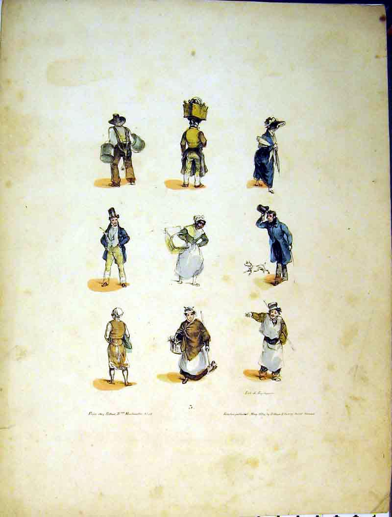 Print 1829 Colour Men Woman Costumes Basket 625B378 Old Original