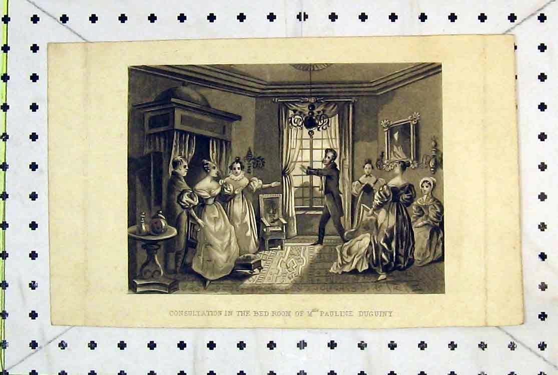 Print Consultation Bedroom Pauline Duguiny Interior House 189B379 Old Original