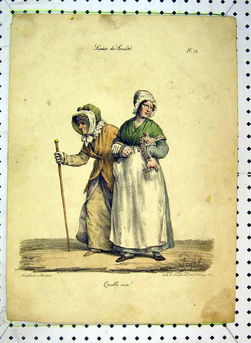 Print C1849 Colour Women Costumes Pigal 544B383 Old Original