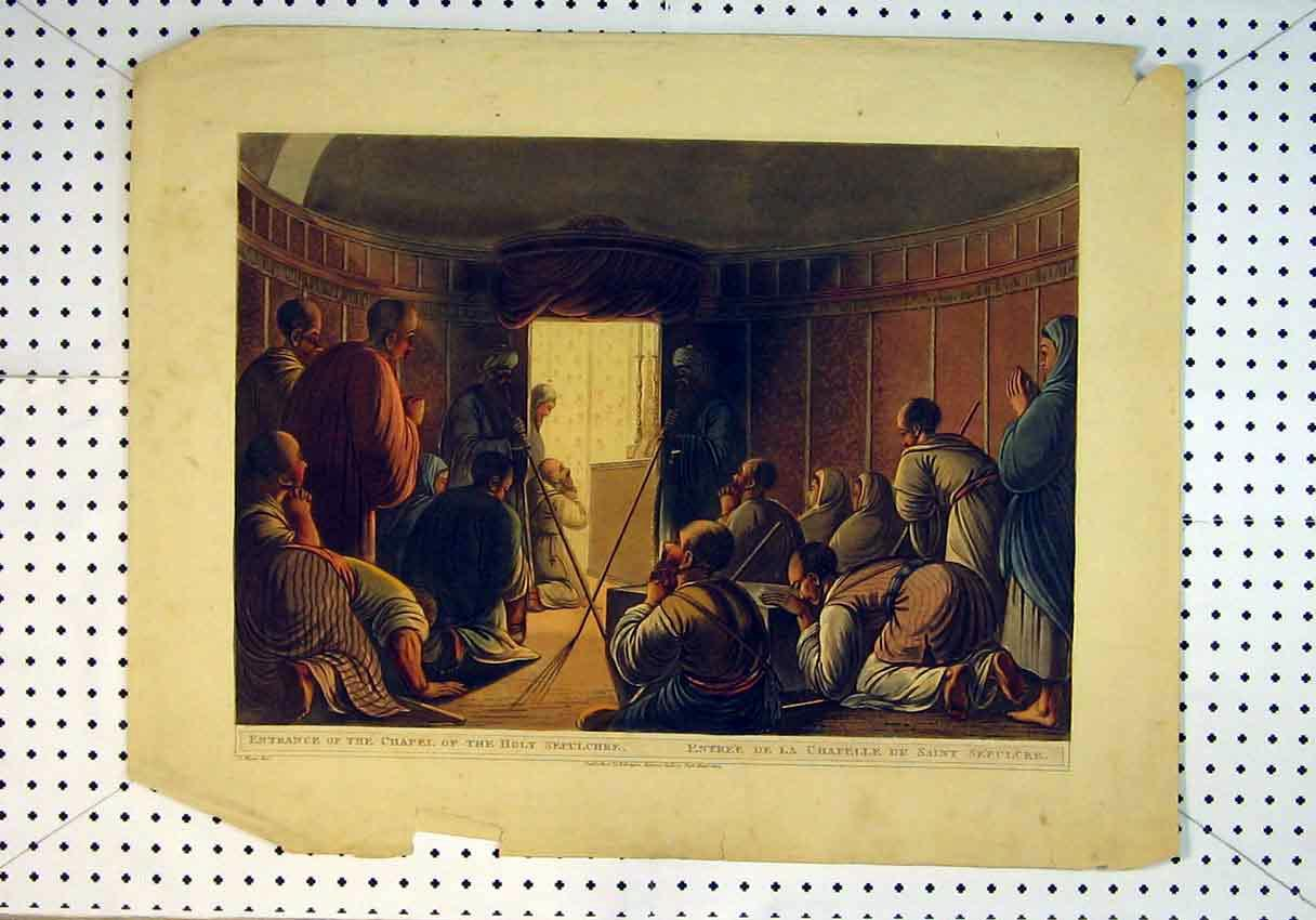 Print View Entrance Chapel Holy Sepulchre Men Holy1804 Colour 811B385 Old Original