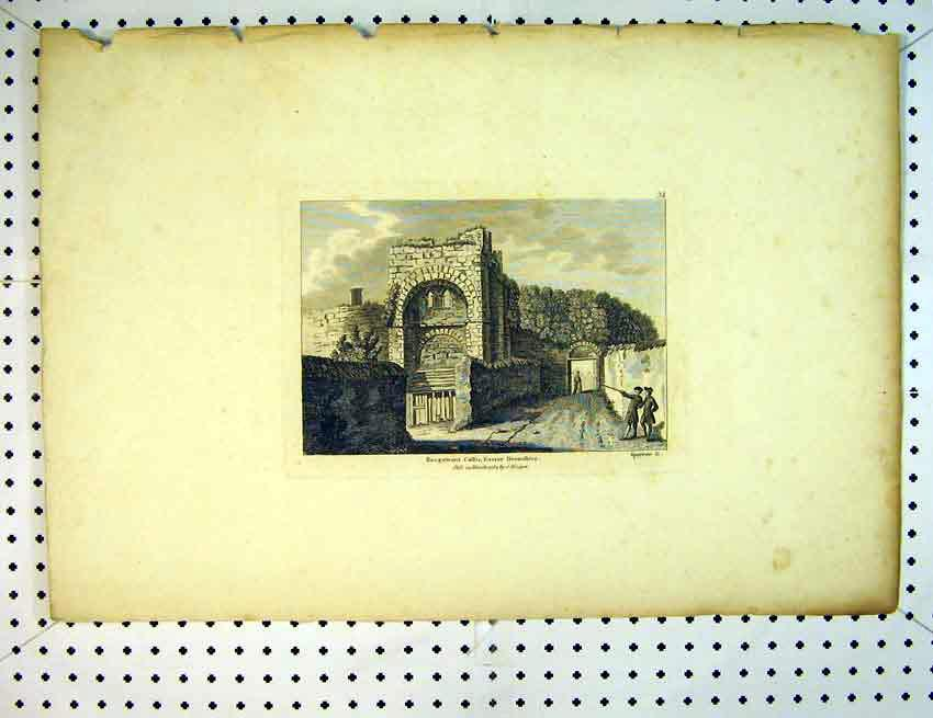 Print View Rougemont Castle Exeter Devonshire 1784 England 515B387 Old Original
