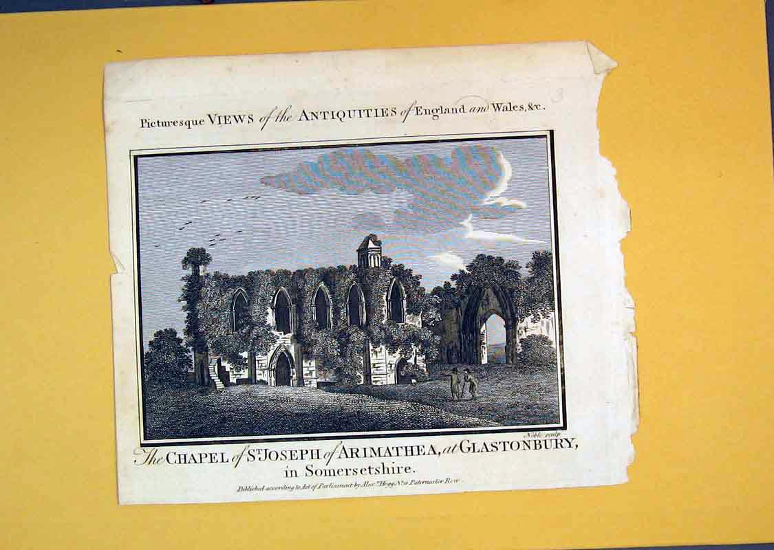 Print View Chapel St Joseph Arimathea Glastonbury Somerset 520B389 Old Original