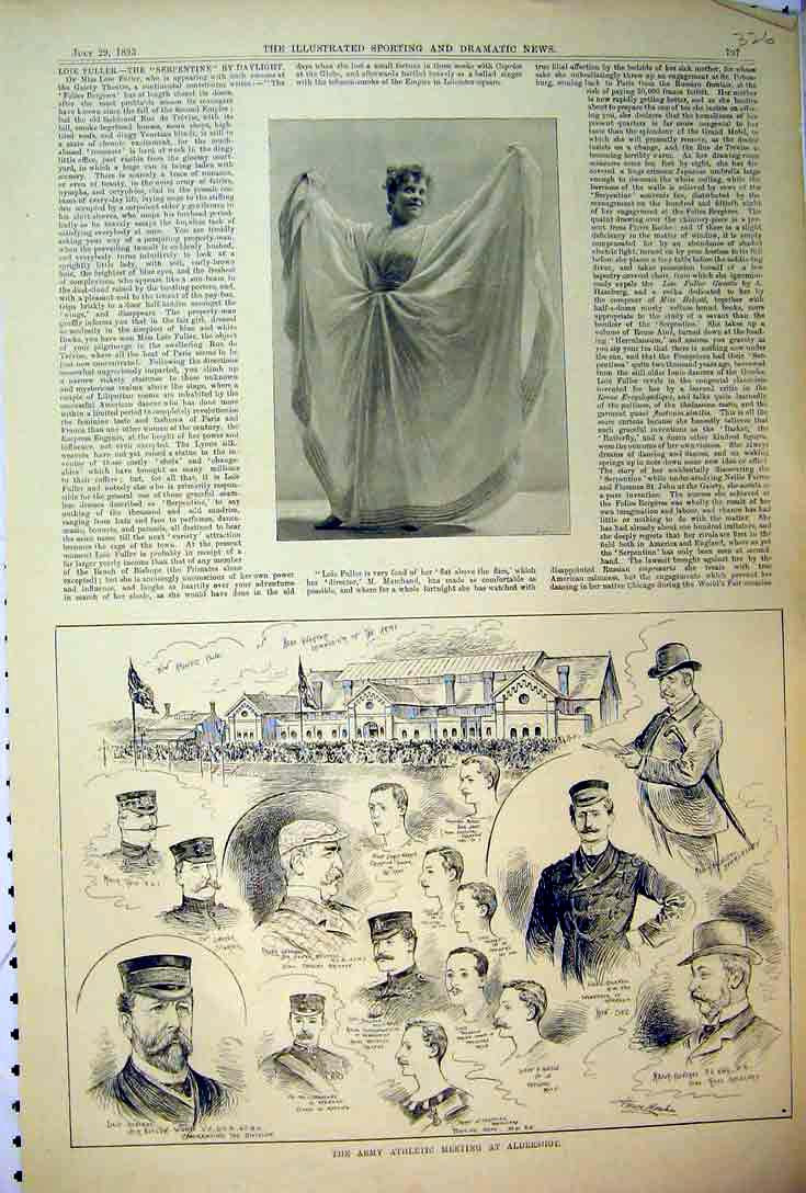 Print 1893 Army Athletics Aldershot Sport Gymnasium Colonel 326B397 Old Original