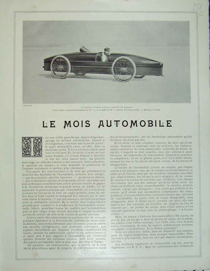 Print French Motor Car Automobile Pavillion Sport Man 258Rb404 Old Original
