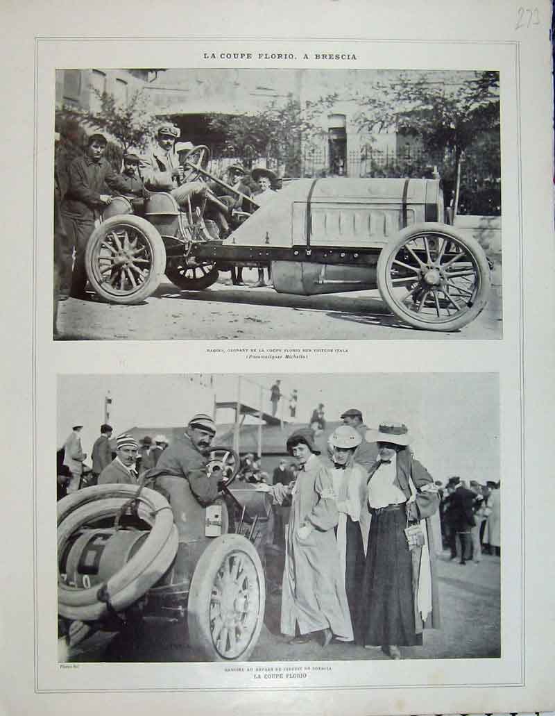 Print French Motor Car People Photograph Automobile 273B404 Old Original