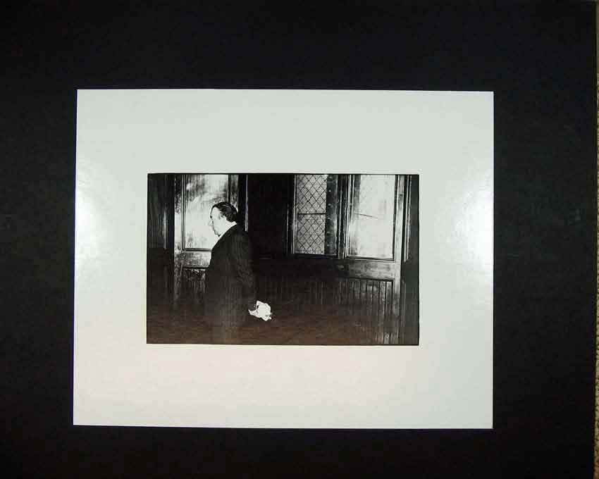 Print 1970 Man Interior House Andrew Ward Photographic 107C201 Old Original