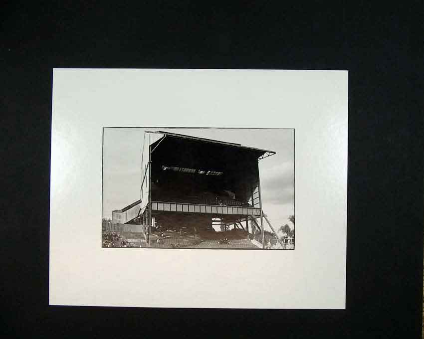 Print 1970 Sports Stadium Stand Photographic Andrew Ward 110C201 Old Original