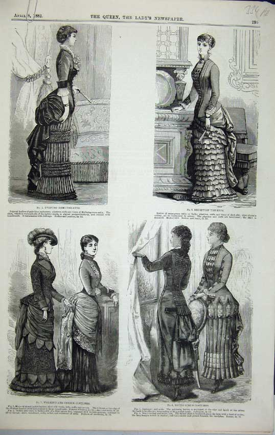 Print 1882 Womens Fashion Girl Costume Cross Embroidery 334C218 Old Original