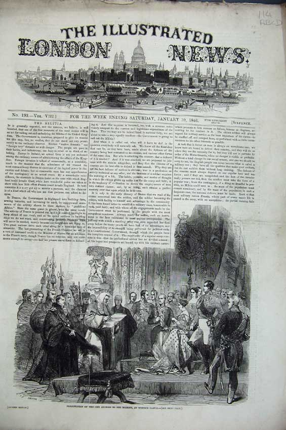 Print 1846 Queen Windsor Ship Sidney America Abbey Ireland 114C224 Old Original