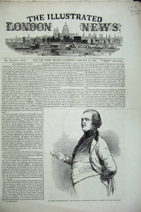 Print 1846 Robert Peel Railway War Cairo Wedding Ship Church 120C224 Old Original
