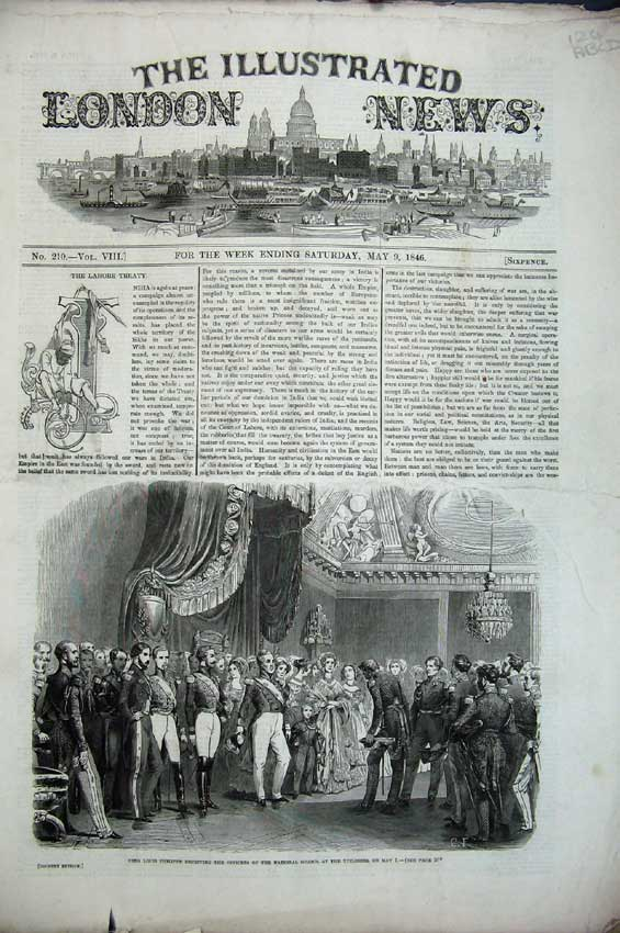 Print 1846 King Louis Bughley Commons Hotel Horse Races Paris 124C224 Old Original