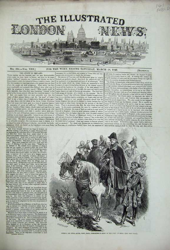 Print 1846 Hugh Gough India Horse Steeple-Chase Church Lamb 161C225 Old Original