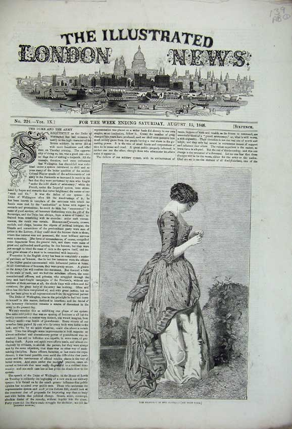 Print River Thames 1846 Mayor Oxford Wellington Abbey Papingo 139C226 Old Original