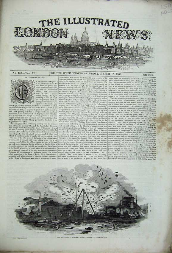 Print Samuda Blackwall 1845 Cathedral Lincoln Theatre Court 150C226 Old Original