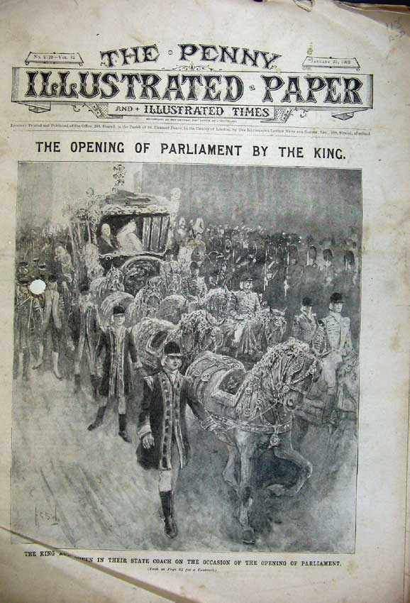 Print 1902 King Queen Parliamentthrone George Advert Cocoa 113C227 Old Original