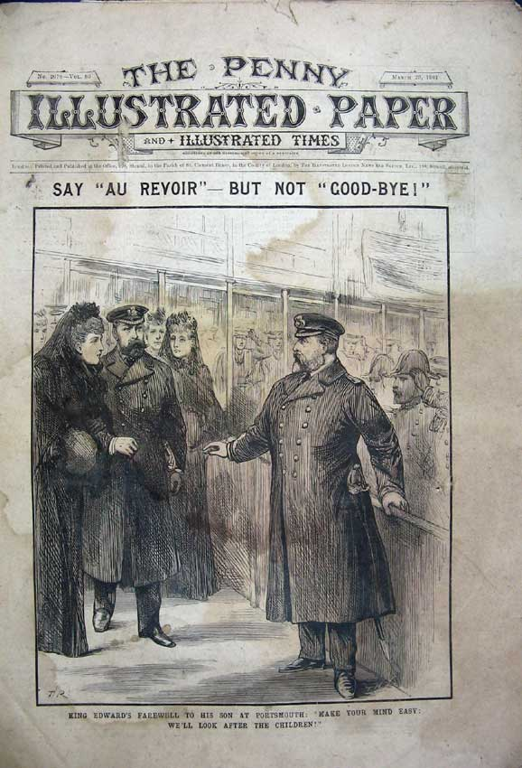 Print King Edward 1901 Portsmouth War Botha Duke York Camp 120C227 Old Original