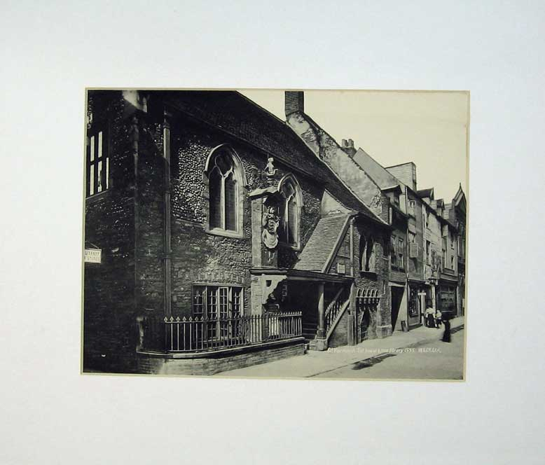 Print Photo Lithograph Great Yarmouth House Library C1950 208C232 Old Original