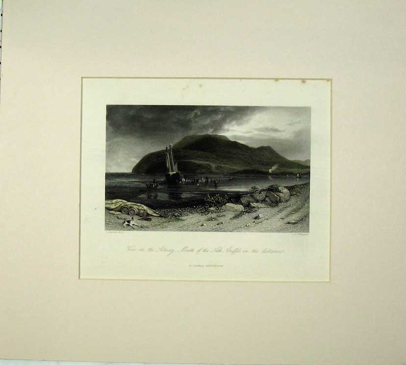 Print View Solway Mouth Nith Criffel Sailing Boat Sea 503C233 Old Original