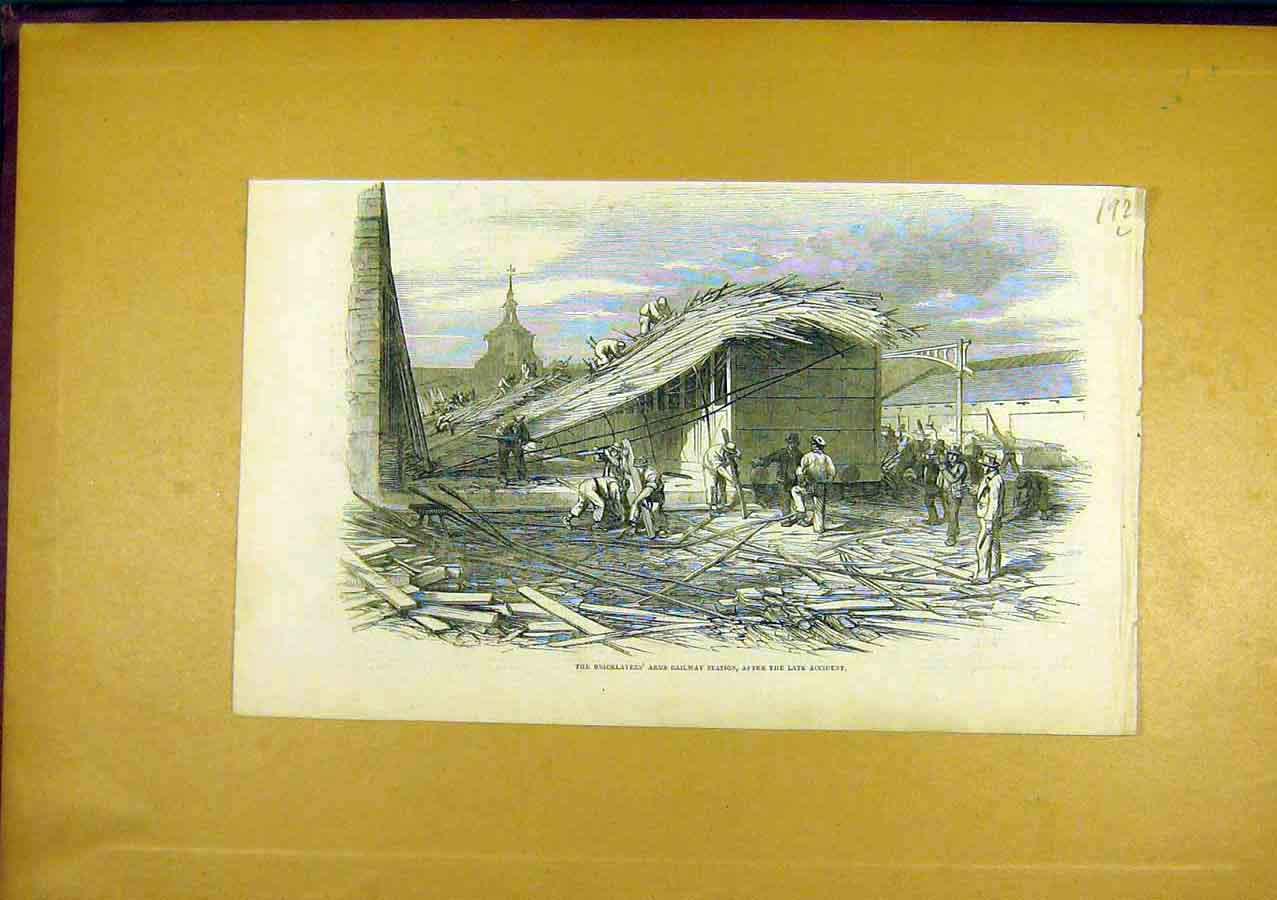 Print Bricklayers Arms Railway Station 1850 92Lccc0 Old Original