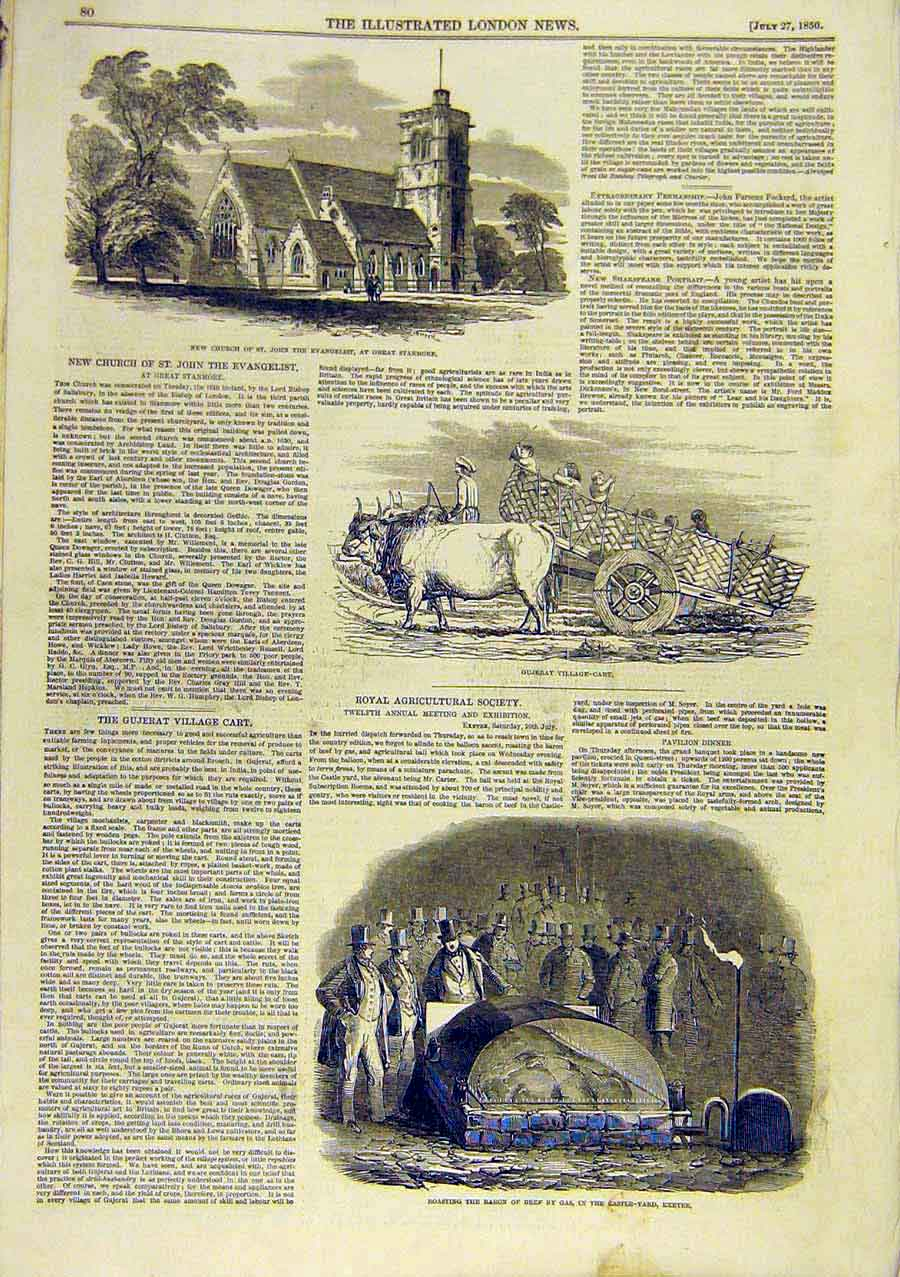 Print Church Evangilist Gujerat Cart Beef Gas Exeter 1850 96Ccc0 Old Original
