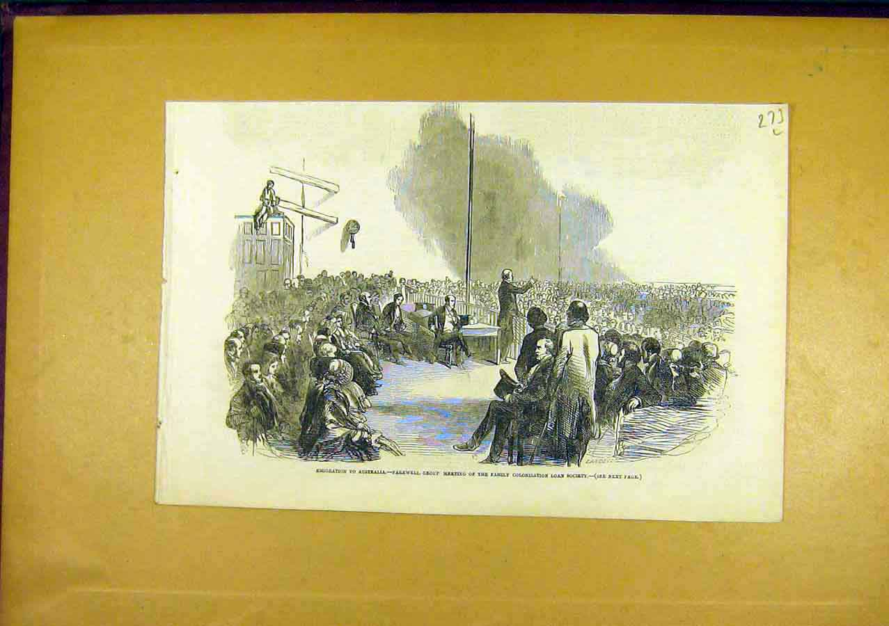 Print Australia Emigration Colonisation Loan Society 1850 73Lccc0 Old Original