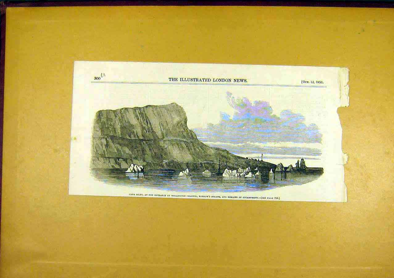Print Cape-Riley Barrow'S-Straits Wellington 1850 00Uccc0 Old Original