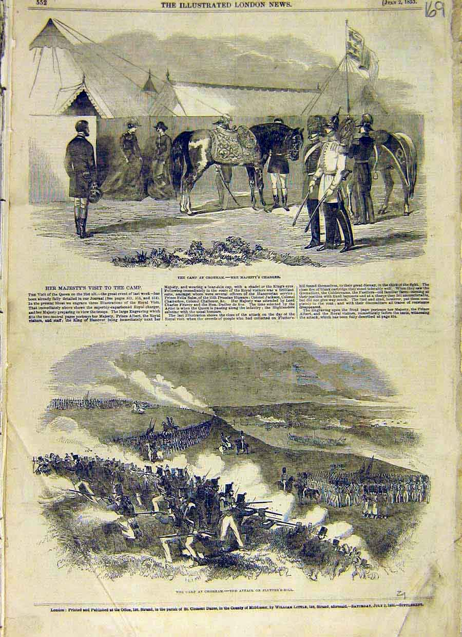 Print Camp Chobham Queen Charger Flutter'S Hill 1853 69Ccc0 Old Original