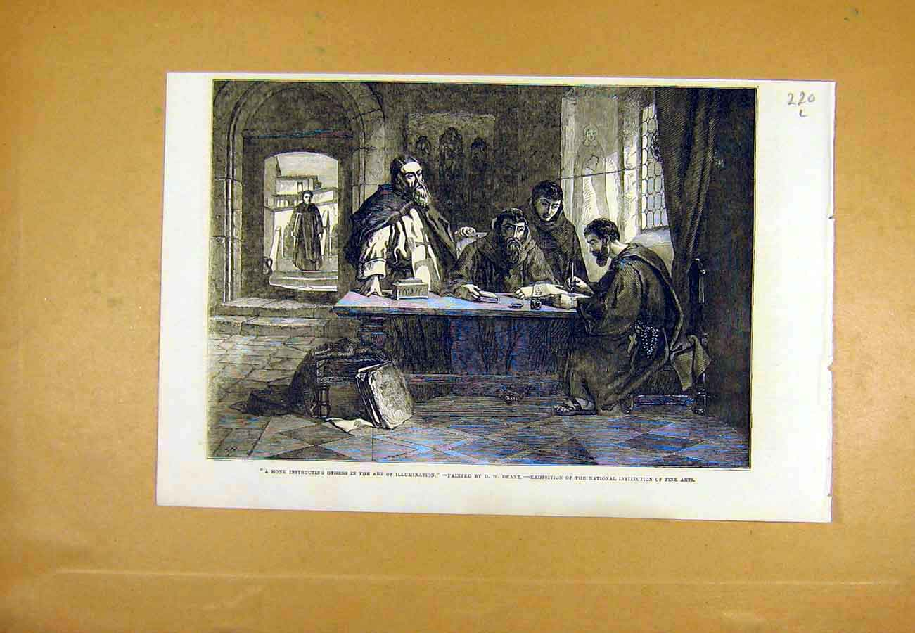 Print Monk Art Illumination Deane Fine Art 1853 20Lccc0 Old Original