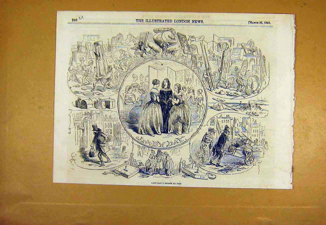Print Lady Day Phiz Ladies Sketches 1853 40Uccc0 Old Original