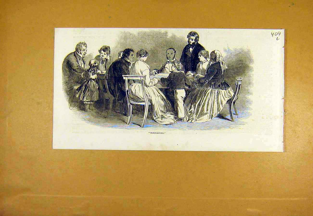 Print Table-Moving S Nce People 1853 04Lccc0 Old Original