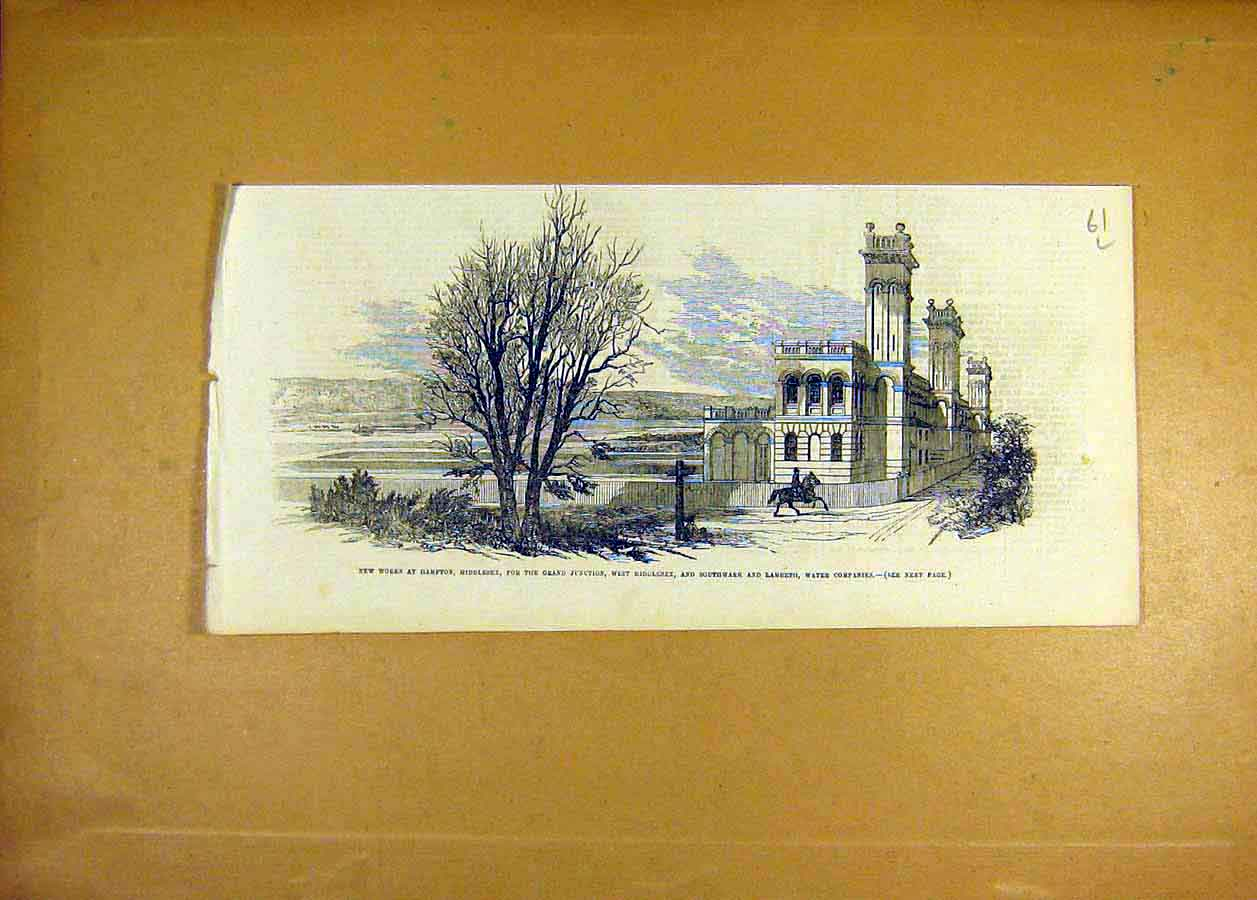 Print Hampton Middlesex Grand-Junction Water Company 1855 61Lccc0 Old Original