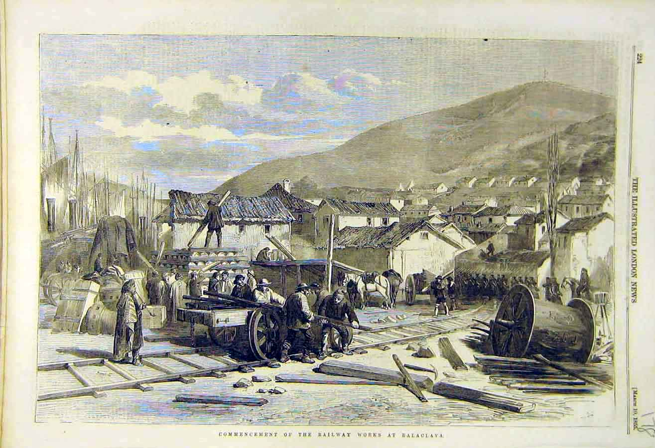 Print 1855 Railway Works Balaclava Building 78Ccc0 Old Original