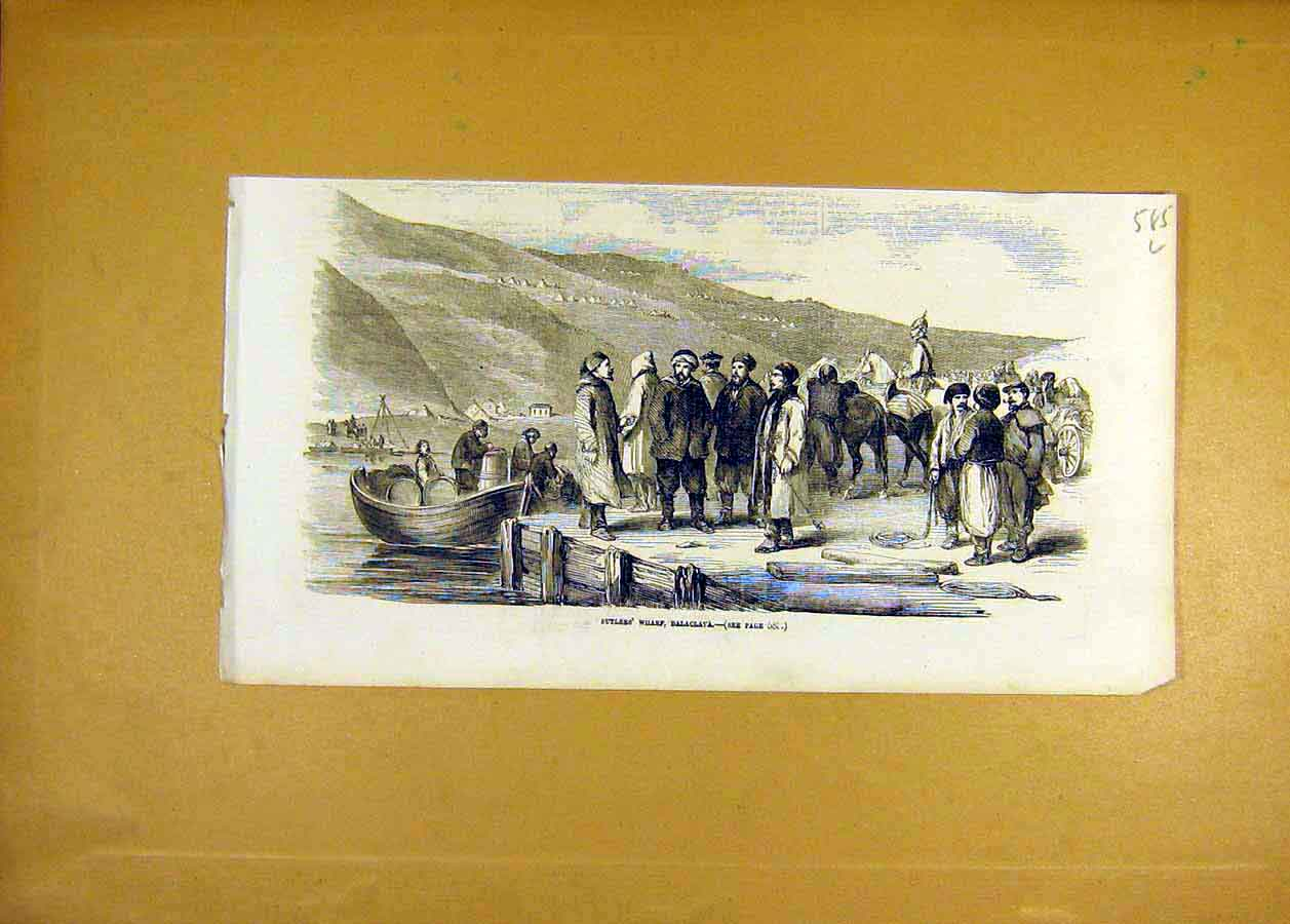 Print Sutlers Wharf Balaclava People Places 1855 85Lccc0 Old Original
