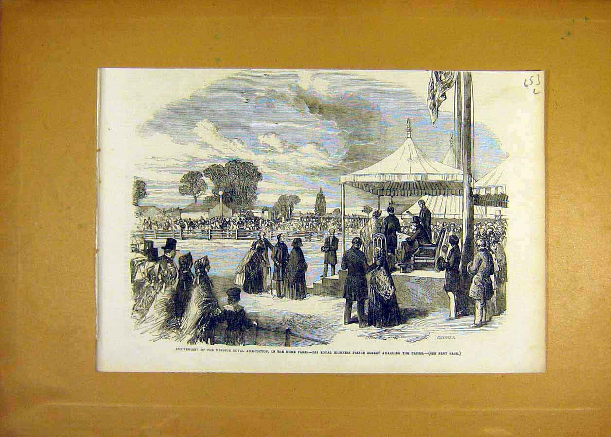 Print Windsor Royal Association Home-Park Prize Prince Albert 53Lccc0 Old Original