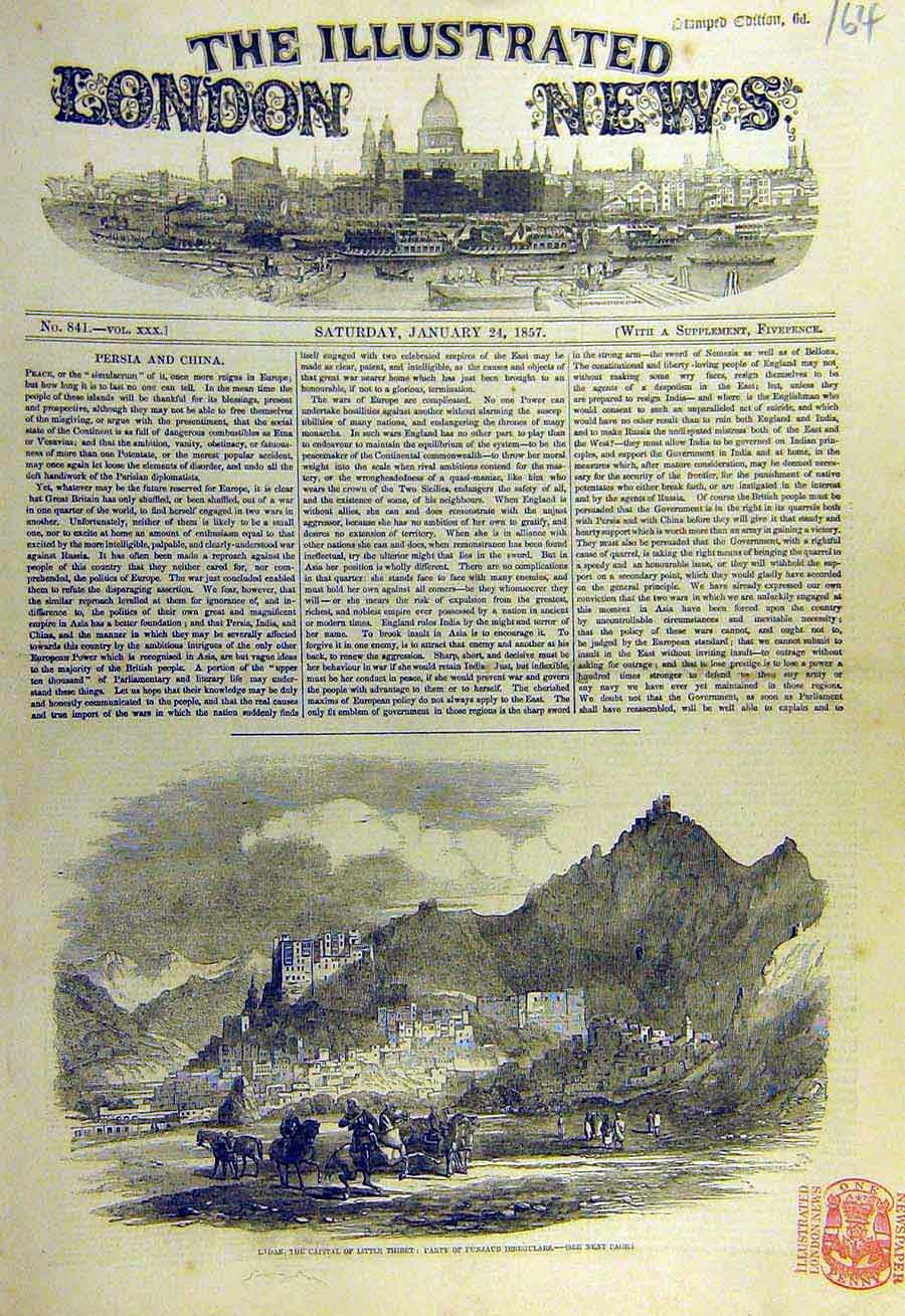 Print 1857 Ladak Little-Thibet Punjaub Irregulars 64Ccc0 Old Original