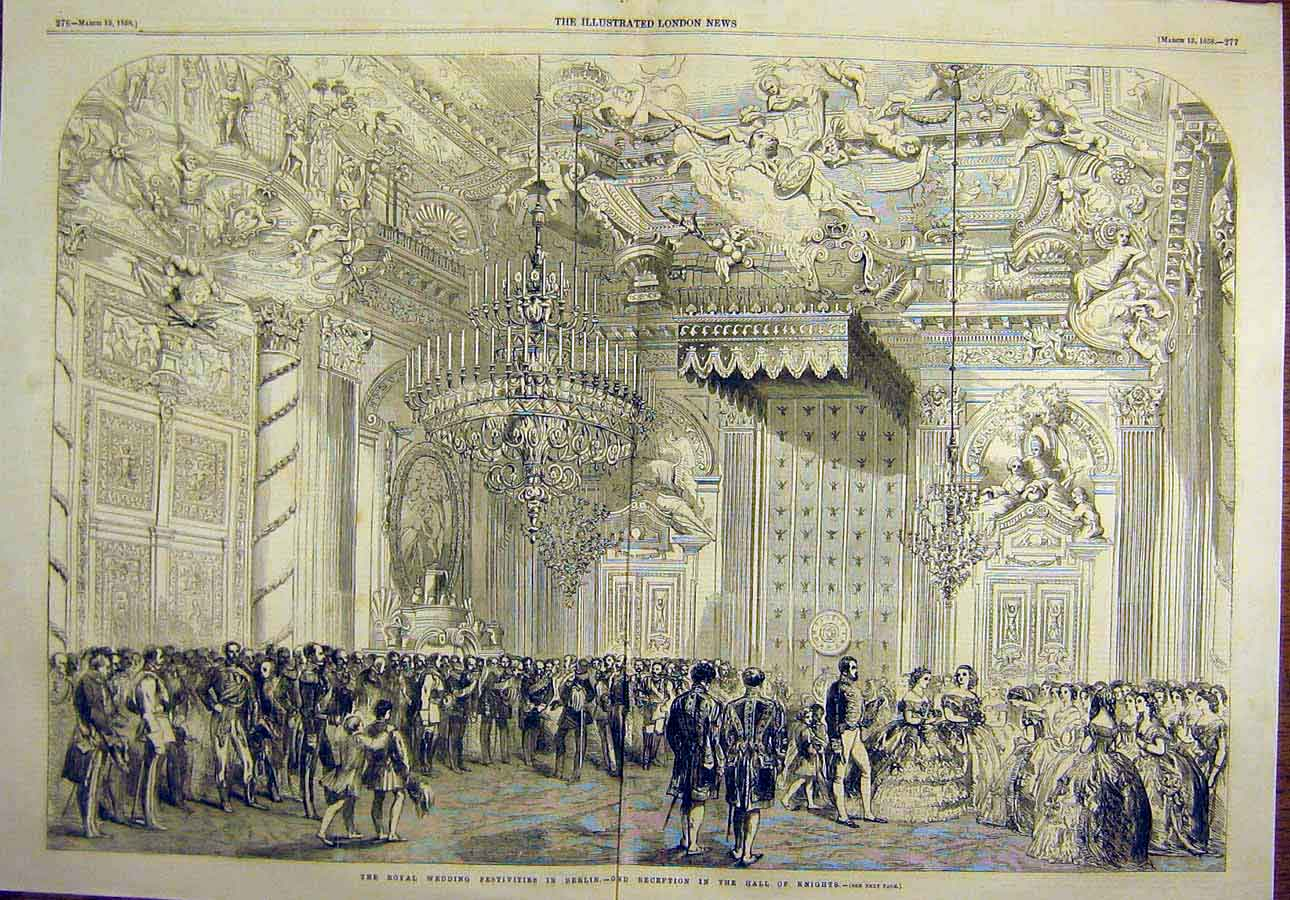 Print Royal Wedding Prince William Hall-Knights Berlin 1858 06Tccc0 Old Original