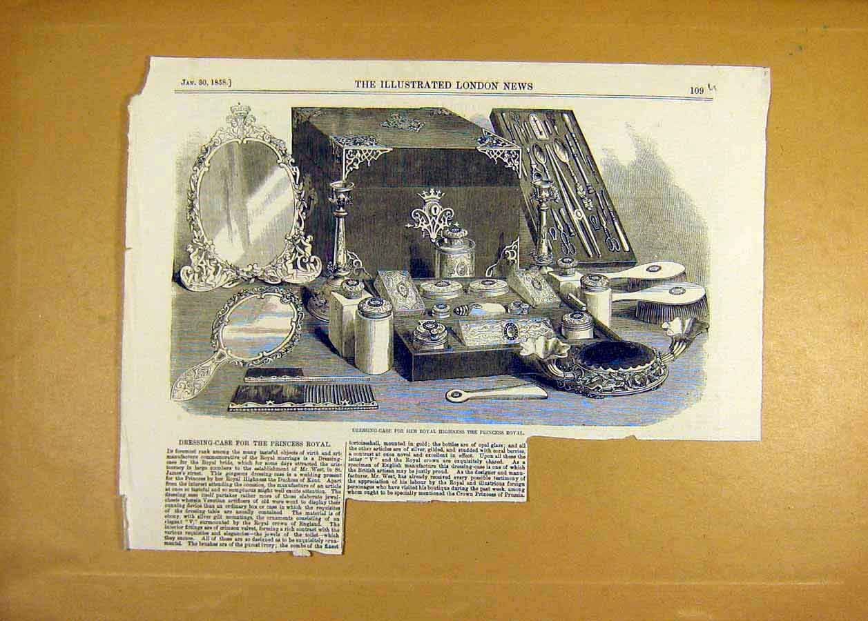 Print Dressing Case Princess Royal Bride 1858 09Uccc0 Old Original
