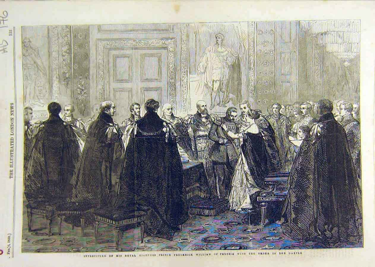 Print Prince William Prussia Order Garter Marriage Bible 1858 76Accc0 Old Original