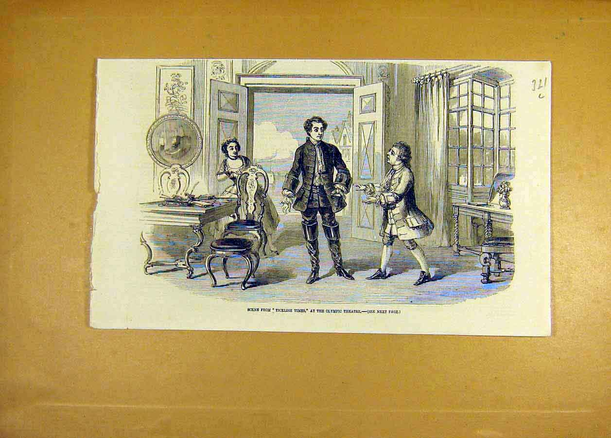Print Scene Ticklish-Times Olympic Theatre 1858 21Lccc0 Old Original